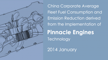 China Corporate Fuel Consumption and Emission Reduction derived from Pinnacle Engines